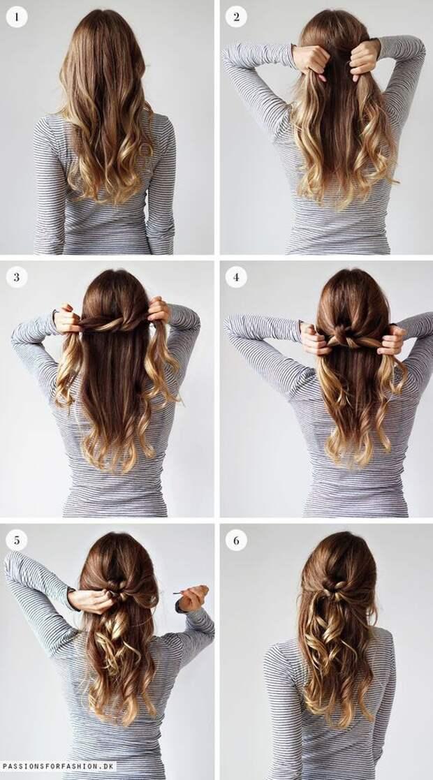 Ретро прическа на длинные волосы
