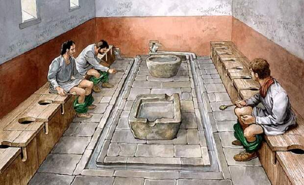 10 шокирующих фактов о туалетах в Древнем Риме.