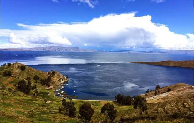 Озеро Титикака Боливия Перу