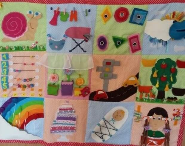 Развивающий коврик - пособие для дошкольников