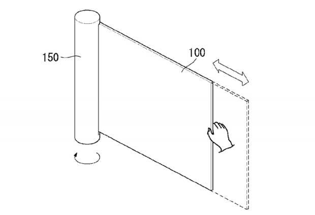 LG запатентовала рулонный ТВ-дисплей