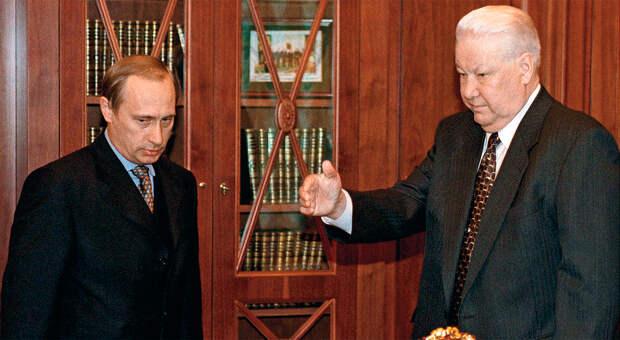 Борис Ельцин и Владимир Путин в 1999 году ( Фото №1 )