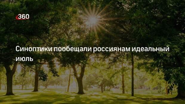 Синоптики пообещали россиянам идеальный июль