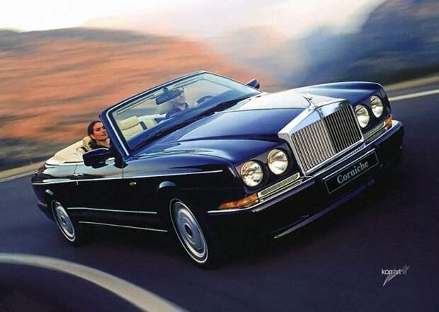 Rolls Royce Corniche авто, автодизайн, автомобили, дизайн, фотомонтаж, фотошоп, юмор, янгтаймер