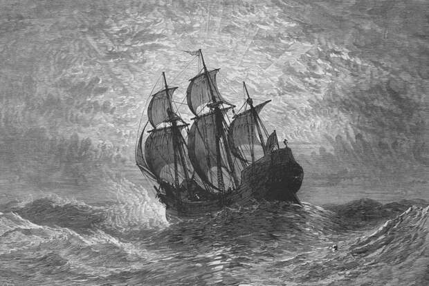 Английский корабль в бурном море - Одиссея принца Руперта   Warspot.ru
