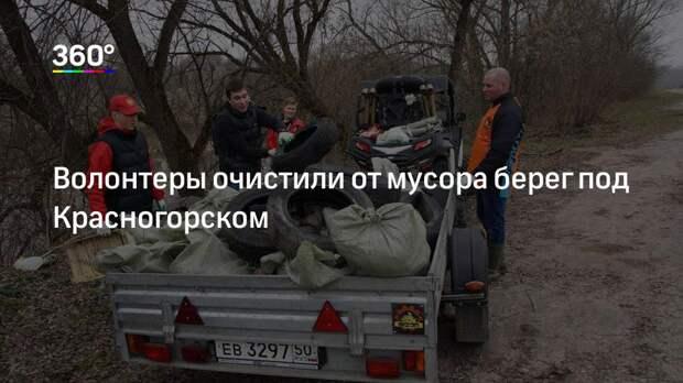 Волонтеры очистили от мусора берег под Красногорском