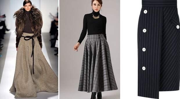 модные юбки из вельвета