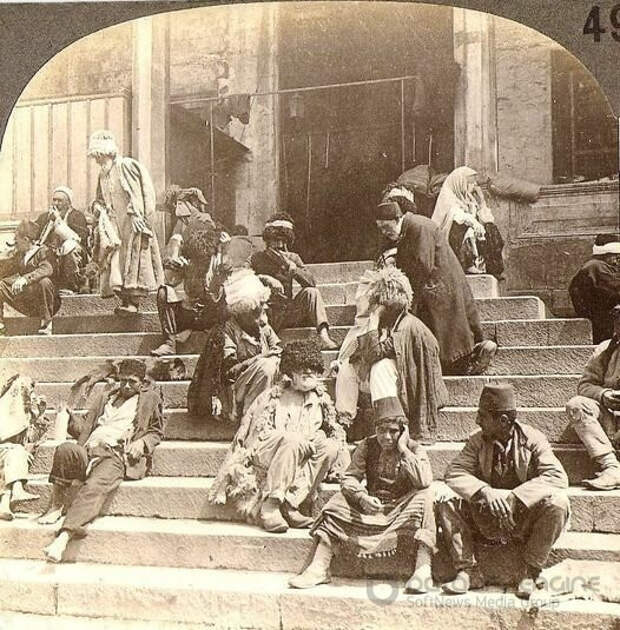 Эмигранты в Анатолии - старинное фото
