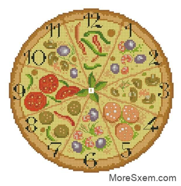 Часы Пицца