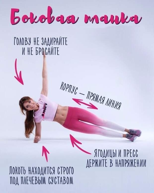 Лучшие упражнения для себя любимой. Боковая планка