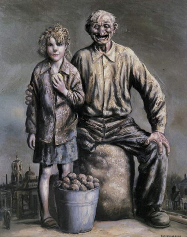 Продавцы картофеля.  Автор: Василий Шульженко.