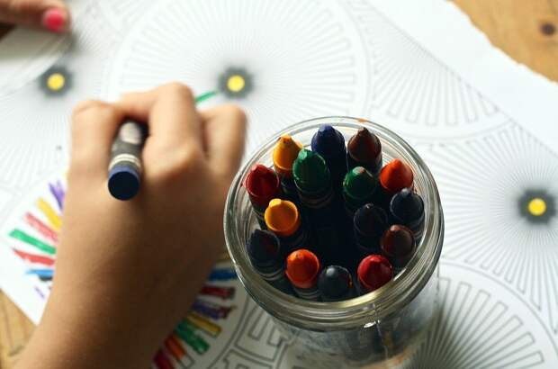 Цветные Карандаши, Книжка Раскраска, Раскраски, Книги
