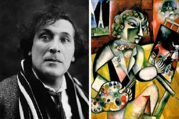 Какие загадки таит «Автопортрет с семью пальцами» Марка Шагала