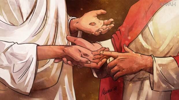 Спаситель попенял Фоме, упрекнув что его вера не безусловна, а требует доказательств