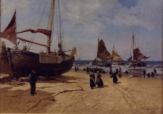 Шевенинген. Голландия. 1887 год. Автор: Александр Беггров.