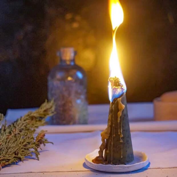 Создание ведьминой свечи Рукоделие с процессом, Свеча, Видео, Длиннопост