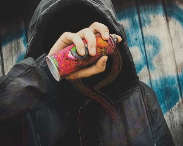 Спрей, Таггер, Запрещено, Streetart, Граффити, Стена