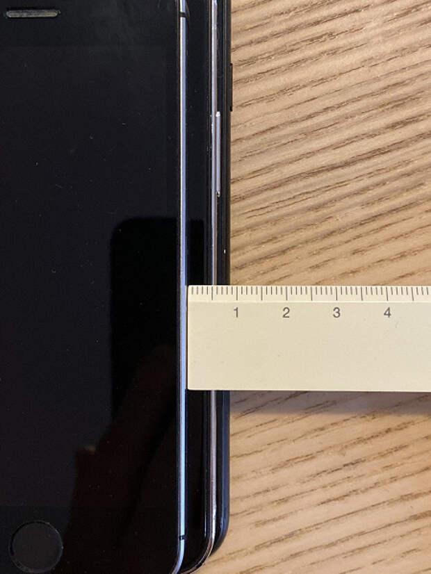 Наглядное сравнение iPhone 12 в стиле iPad Pro с оригинальным iPhone SE и iPhone 7