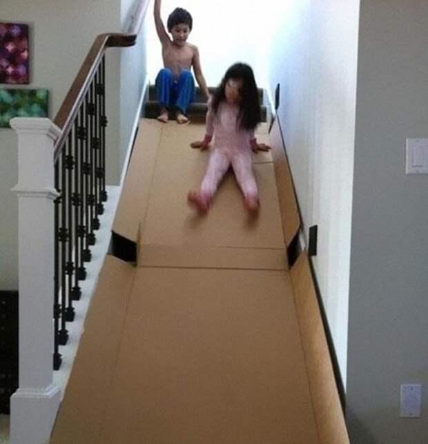 14. Безопасные лестницы дети, крутые родители, фото, юмор