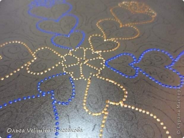 Декор предметов Роспись Тарелка Сердце Востока МК для начинающих Краска Стекло фото 7