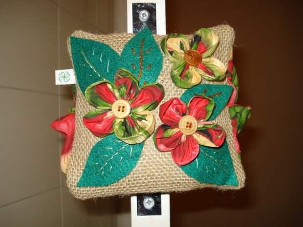 Цветы из ткани, мастер-класс