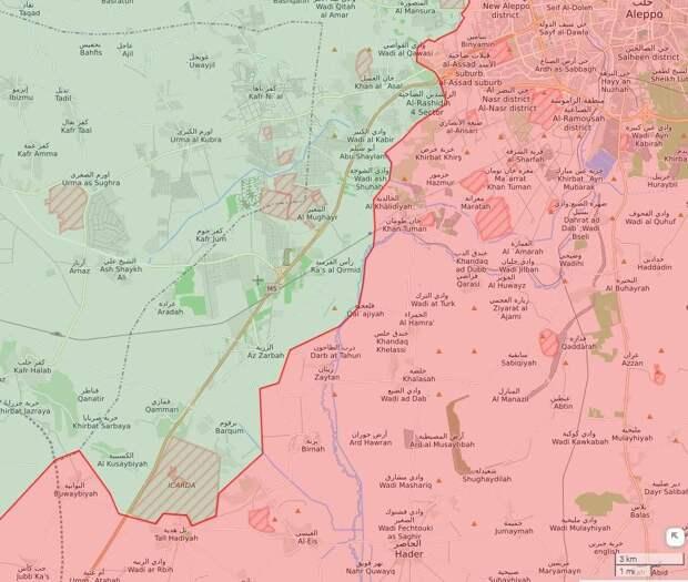 Сирийские военные меньше чем за сутки освободили 16 населенных пунктов