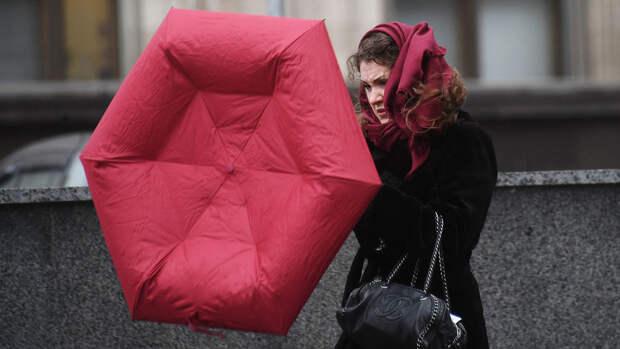 В Гидрометцентре объяснили сильный ветер и дождь в Москве