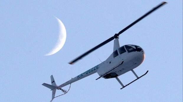 Видео сместа крушения частного вертолета вБелом море