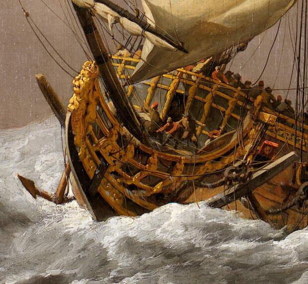 Корабль в бурном море - Одиссея принца Руперта   Warspot.ru