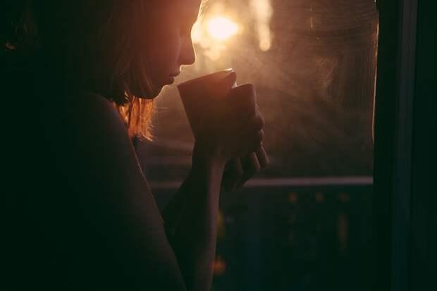 Девочка, Питьевой, Чай, Кофе Кубок, Закат