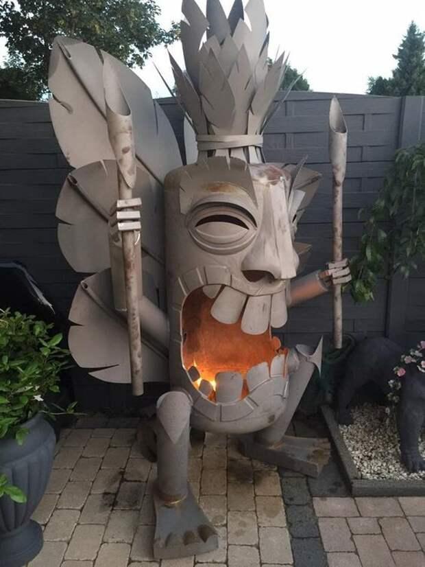 Невероятные уличные передвижные очаги - огненное искусство искусство, камины, красота, огонь, улица, чаша