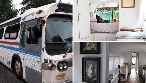 За три года старый автобус превратили в стильный и комфортный дом на колесах («Greyhound»).