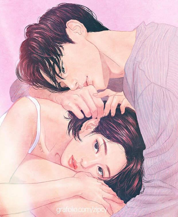 Любовь в пастельных тонах: работы корейского художника берут за душу