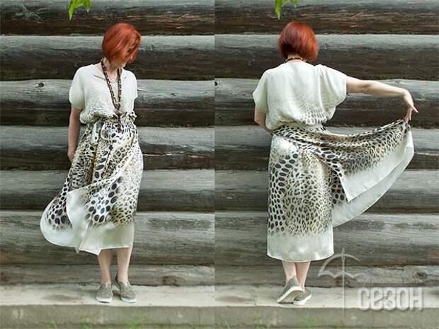Мастер-класс по конструированию необычного платья - на осень такое можно сшить из тонкой шерсти