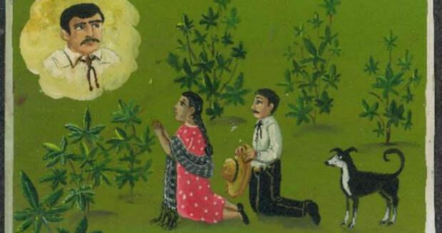 «Послал хороший урожай марихуаны»: зачто мексиканцы благодарят святых