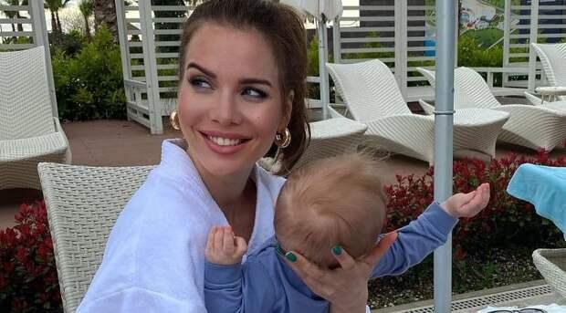 Александра Гозиас впервые показала лицо сына