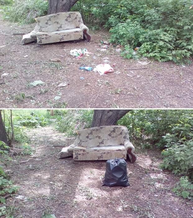 Он за 1 час собрал 28 мешков мусора. Как обычный парень сам очищает родной город