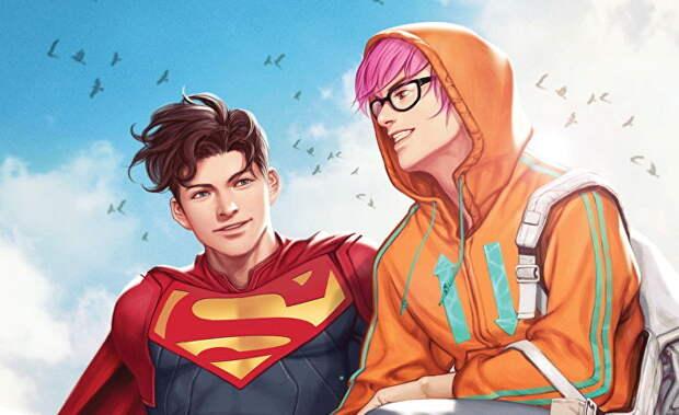 "Иллюстрация из комикса ""Супермен: сын Кал-Эла"""