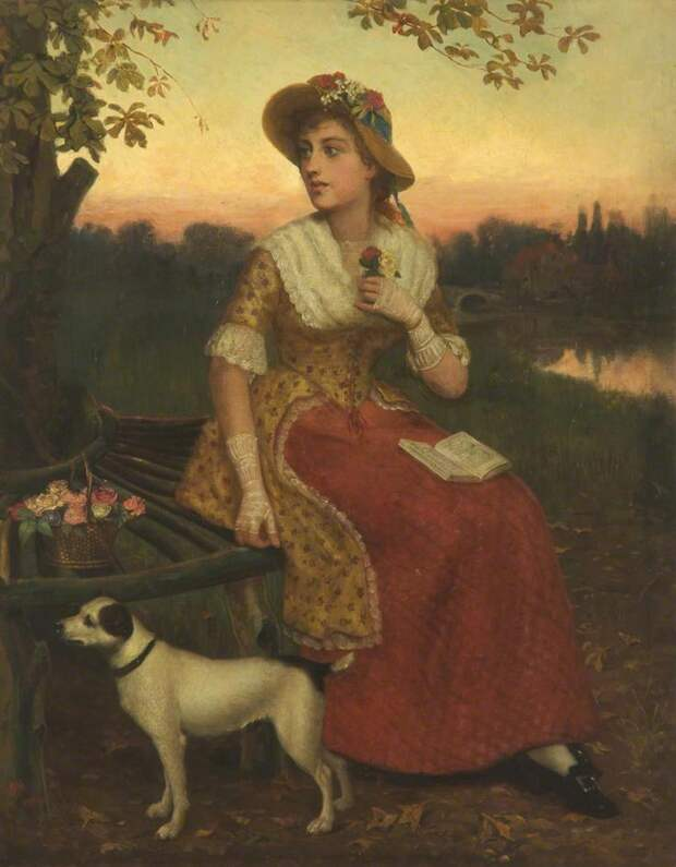 Lady And A Dog Philip Richard Morris
