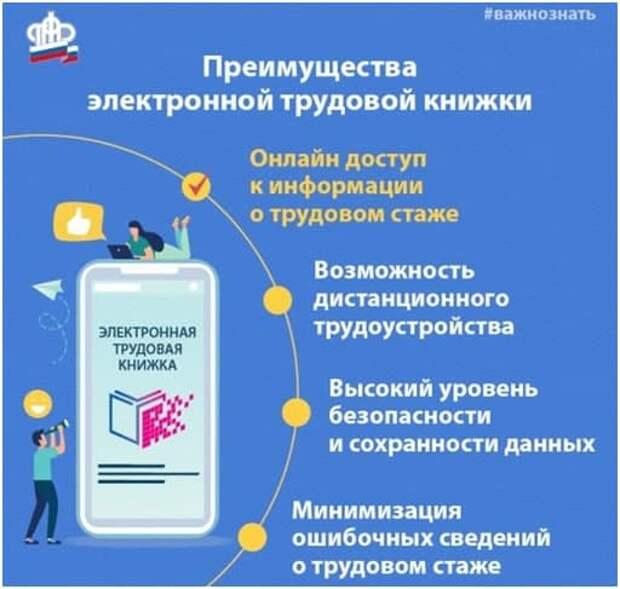 Сведения из электронной трудовой книжки можно получить дистанционно