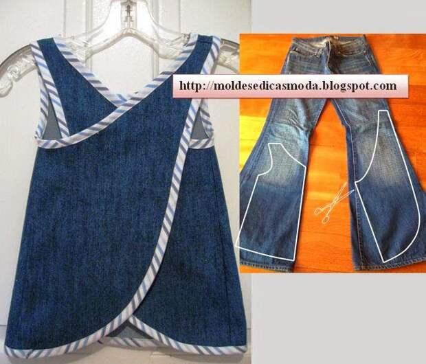 Что можно сделать из старых джинсовых вещей - море идей