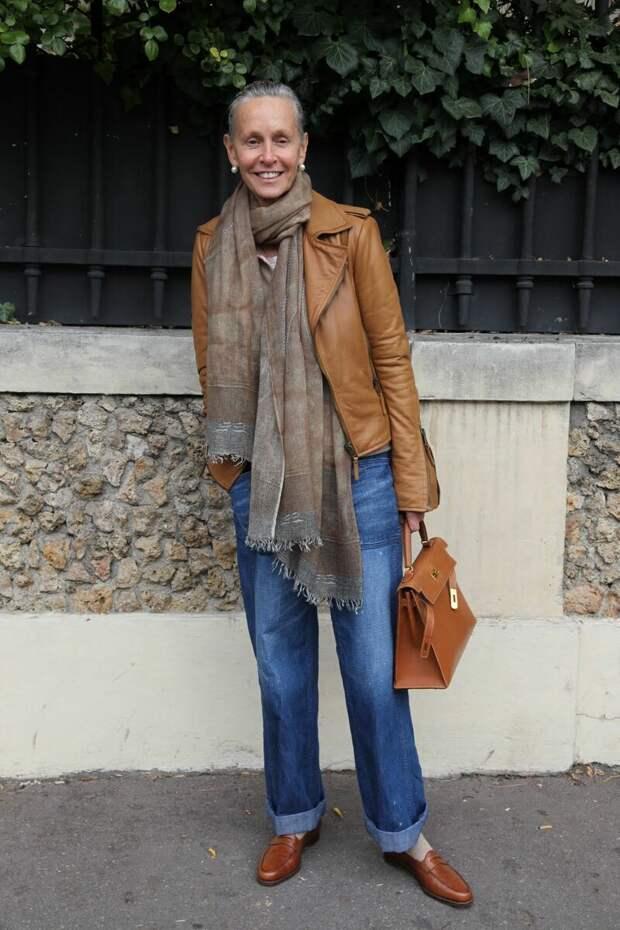 Осенний наряд с джинсами. /Фото: i.pinimg.com
