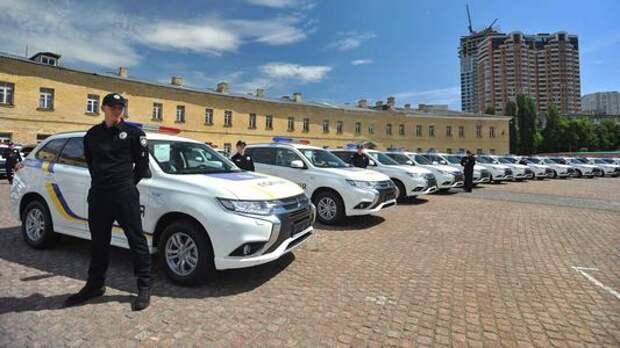 Украинская полиция «позеленела» благодаря компании Mitsubishi