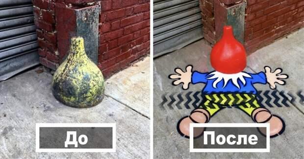 30 работ уличного художника, который любит оживлять городские пейзажи