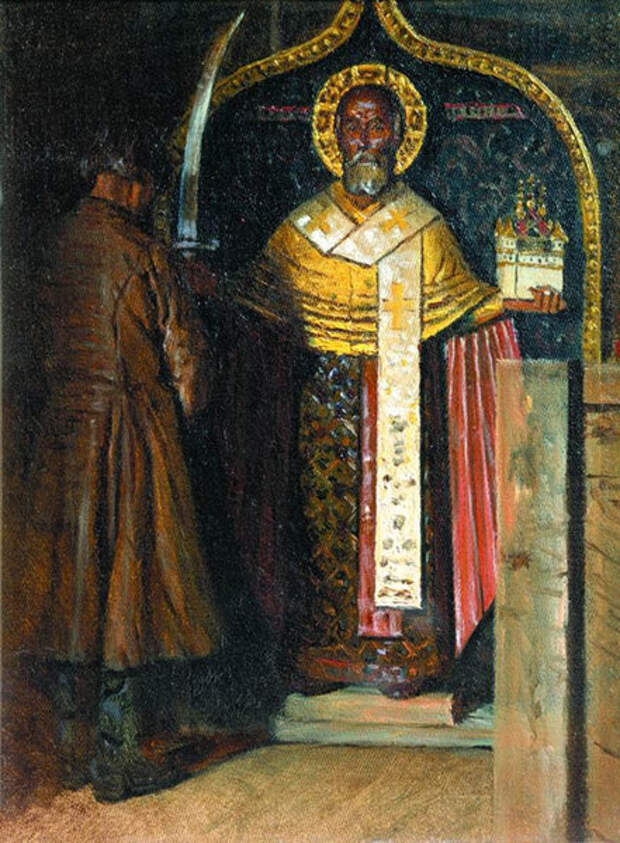 Икона Николы с реки Выя. В. В. Верещагин