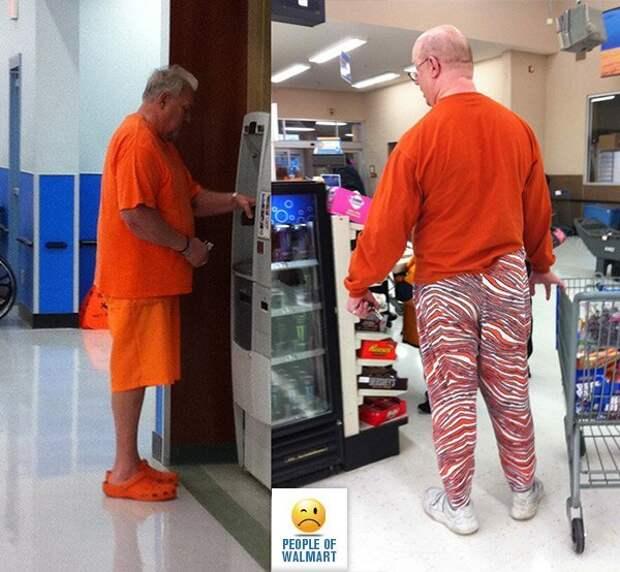 Эти люди просто пришли за покупками в американский супермаркет Walmart walmart, в мире, люди, мода, покупатели, чудики, юмор