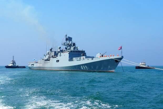 Корабли Черноморского флота вышли в море на учения с авиацией
