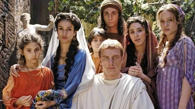 Луций Ворен и его семейство. Кадр из сериала «Рим».