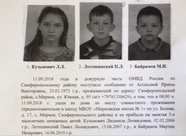 Внимание! В Крыму пропали дети (ФОТО, ПРИМЕТЫ)
