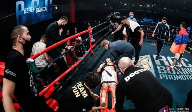 ВЕкатеринбурге главный бой турнира побоксу закончился переломом ноги
